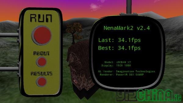 iOcean X7 Elite review - Nenamark 2 benchmark