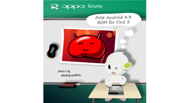 Android 4.3 su Oppo FIND5