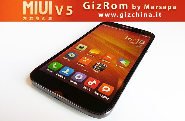 MIUI V5 Rom - GizRom por GizChina.it