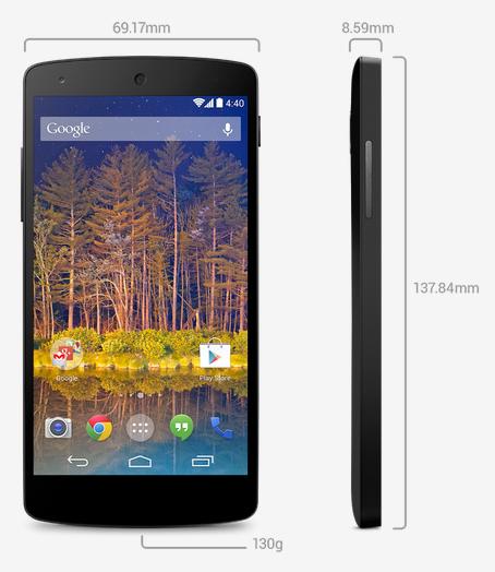 Nexus 5 specifiche