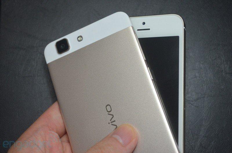 Eu vivo X3 Gold vs iPhone 5s Gold