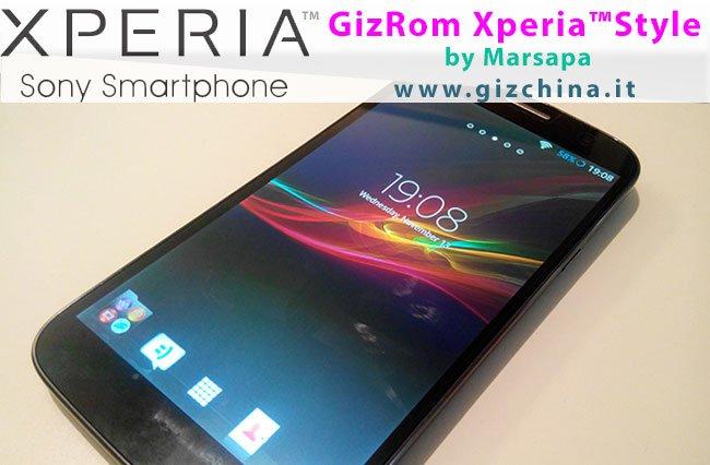 GizChina GizRom Xperia Style para Zopo Zp990 by Marsapa