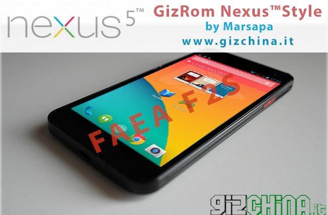 GizChina GizRom Nexus 5 Estilo Android KitKat por Marsapa para FAEA F2S