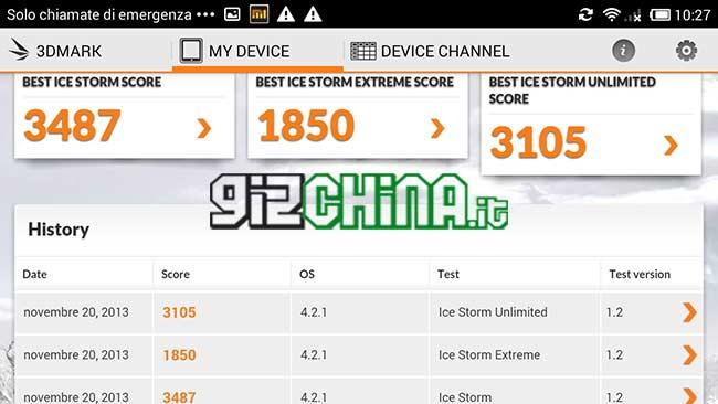 Xiaomi Hongmi benchmark 3DMark