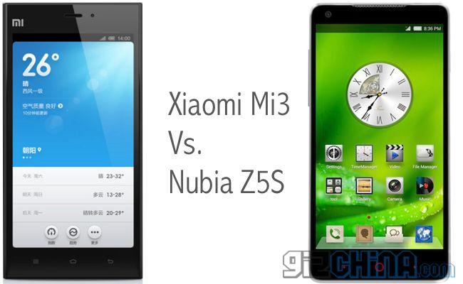 Xiaomi MI3 , ZTE Nubia Z5S
