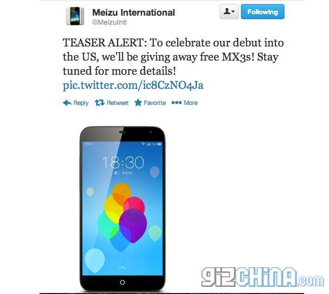 MEIZU MX3 - INTERNATIONAL GIVEAWAY