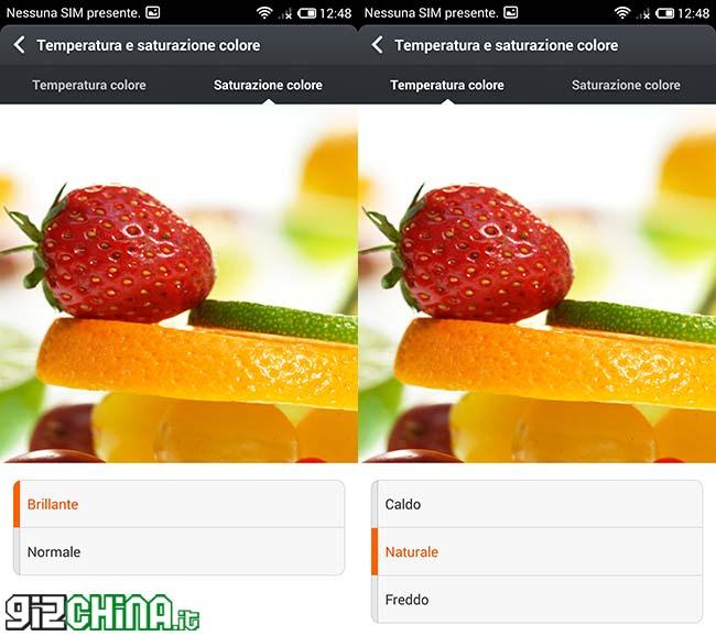 Xiaomi Mi3 Snapdragon 800 Configurações de exibição