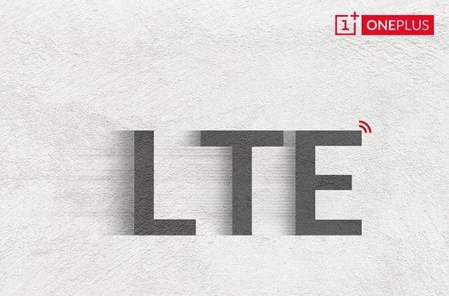 Logo LTE in una immagine della compagnia OnePlus