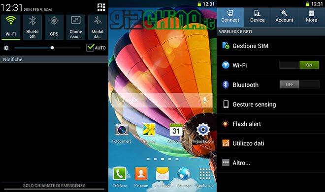 Captura de tela do touchwiz instalado no Mlais MX69 Pro