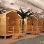 casette di legno negli uffici Xiaomi