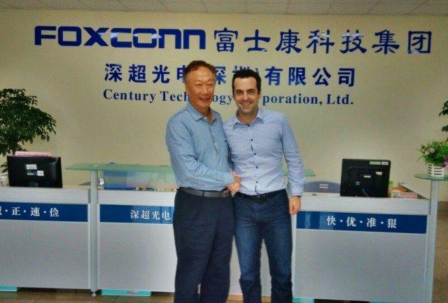 Hugo Barra visita a Foxconn