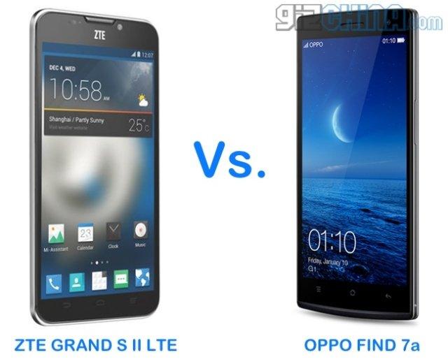 Oppo Encontrar 7a vs ZTE Grande S II LTE