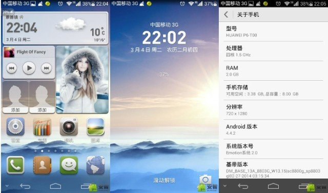 Android 4.4 su Huawei Ascend P6