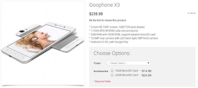 GooPhone X3