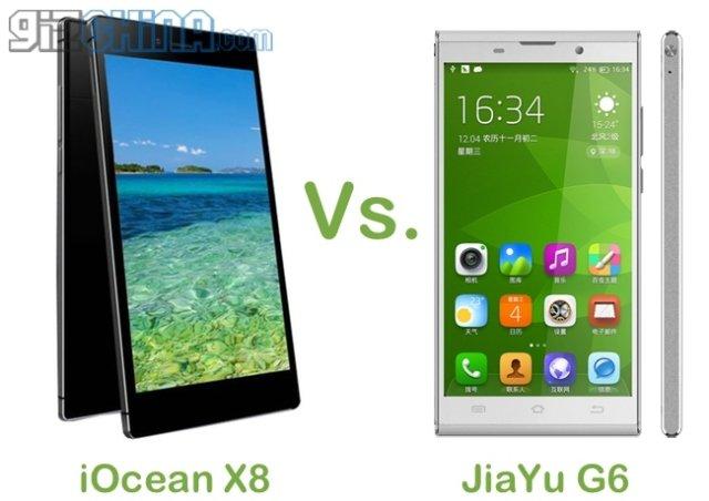 iOcean X8 vs JiaYu G6