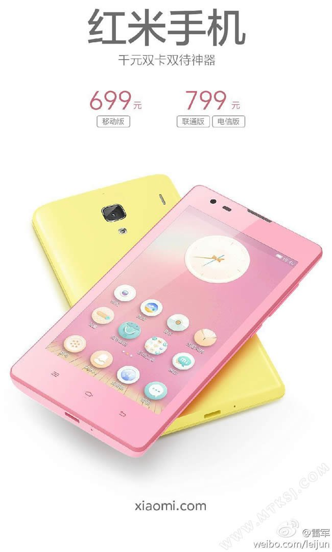 Xiaomi Redmi - nuove colorazioni