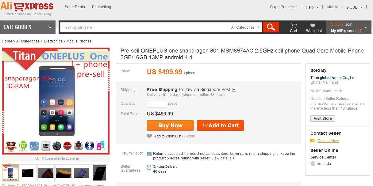 OnePlus One AliExpress