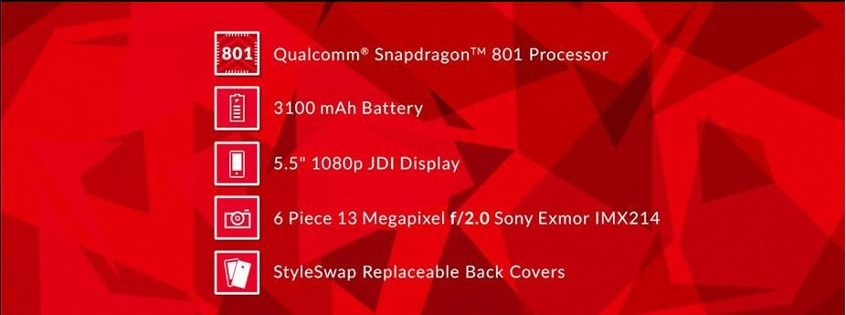 OnePlus One especificações