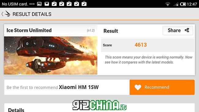 المعيار 3DMark Xiaomi Redmi 1S
