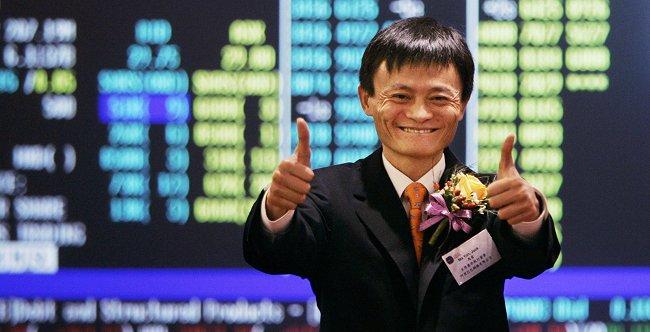 Listagem da bolsa de valores Alibaba