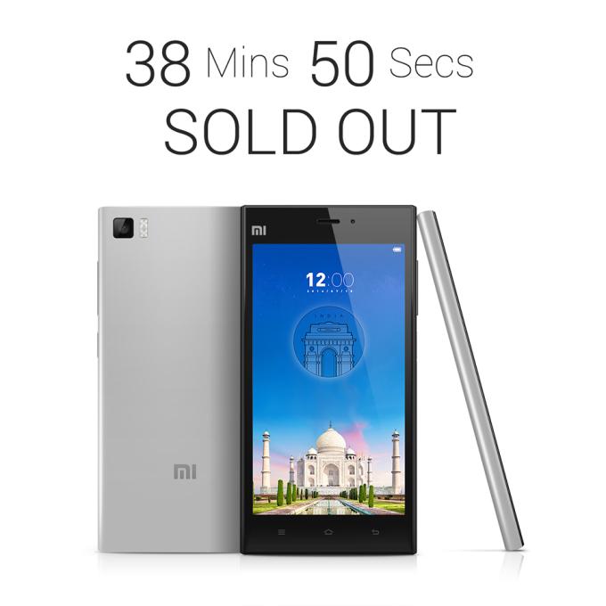 Xiaomi Mi3 venduto via Flipkart