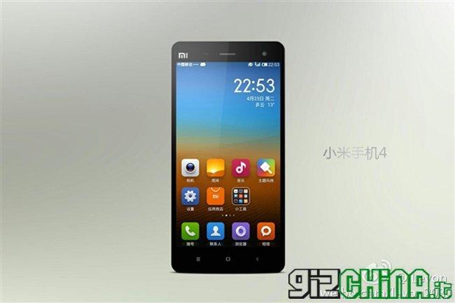 Xiaomi Mi4 render