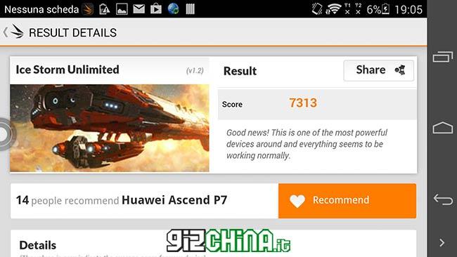 Huawei Ascend P7 dual SIM Benchmark 3dmark