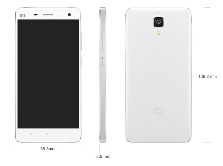 Xiaomi mi4 misure