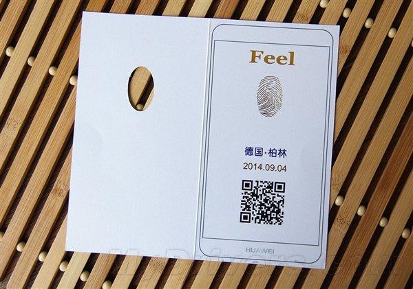 Convite para o evento de lançamento da Huawei