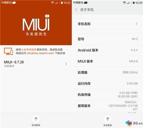 Xiaomi MI2 Mi2S MIUI V6