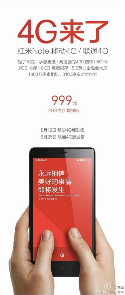 Xiaomi Redmi Notes LTE