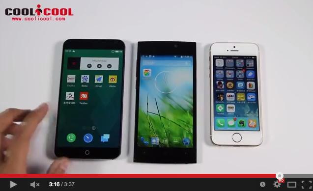 Confronto UMi Zero vs MX4 vs iPhone 5s