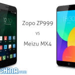 Zopo ZP999 vs Meizu MX4