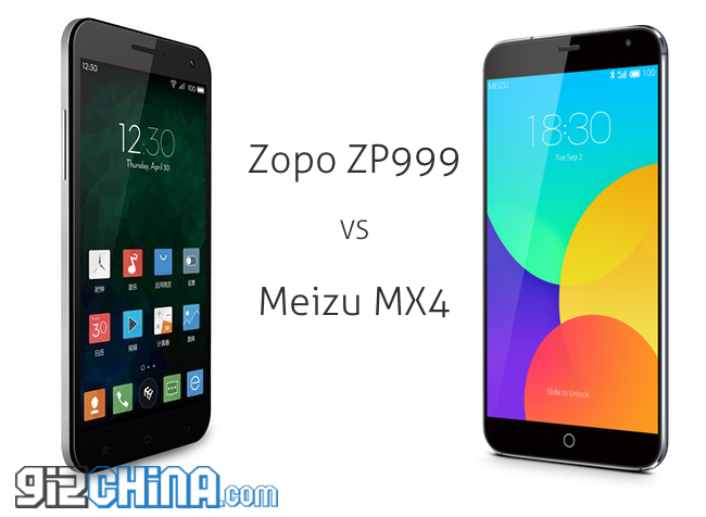 Zopo ZP999 vs Meizu MX4