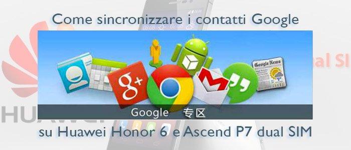 sincronizzazione contatti Huawei
