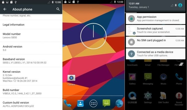 Lenovo S850 Android Lollipop 5.0