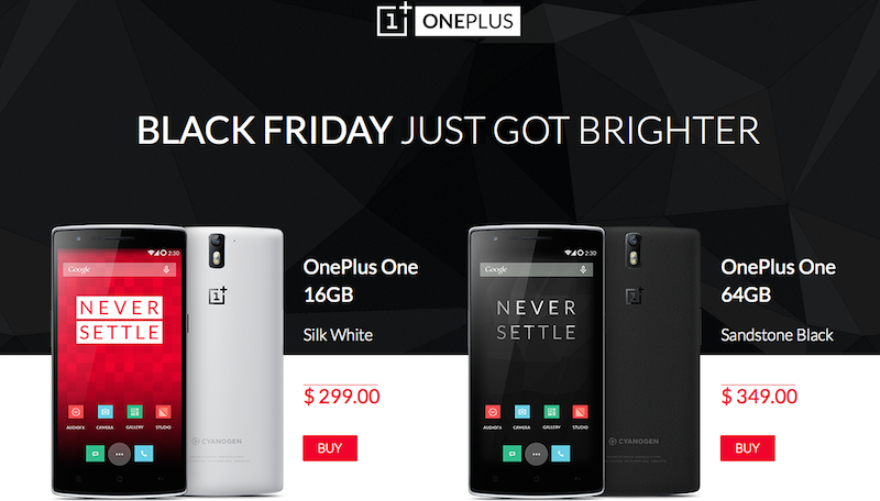 OnePlus One acquistabile senza invito per il Black Friday