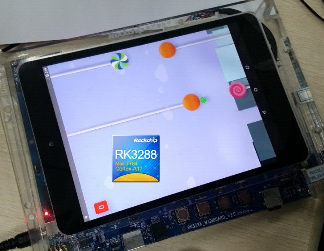Rockchip shows a tablet with RK3288 CPU and Android Lollipop