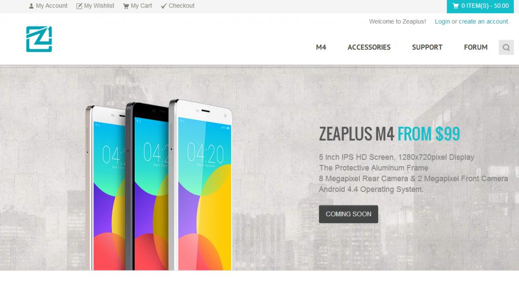 Zeaplus M4 Clone dello Xiaomi Mi4