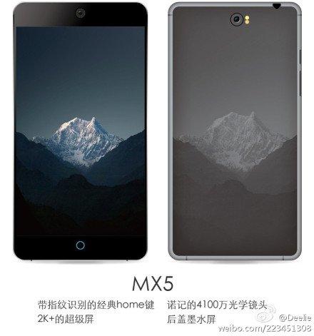 Meizu MX5 in un primo render