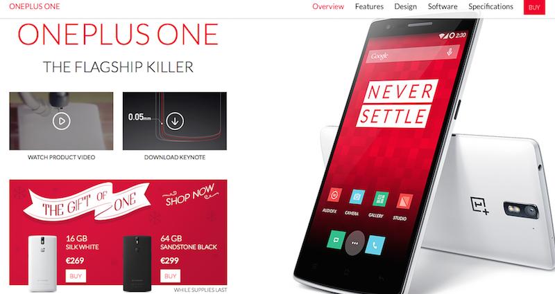 OnePlus One acquistabile senza invito per Natale