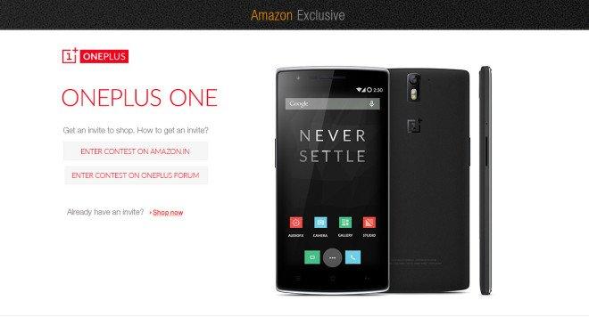 OnePlus One vendeu na Índia exclusivamente Amazon