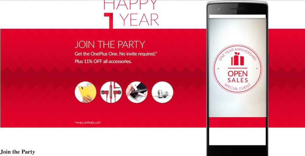 OnePlus One - Happy Birthday!