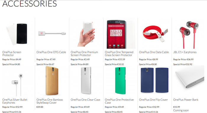 OnePlus accessori scontati 11%