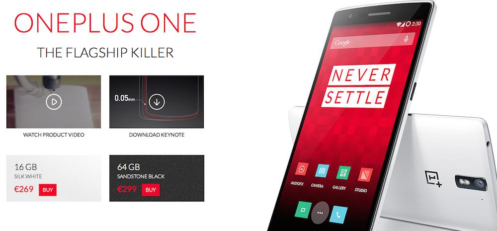 OnePlus One acquistabile senza invito