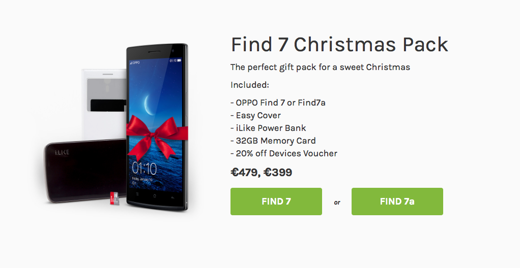 Oppo Find 7 Christmas Pack