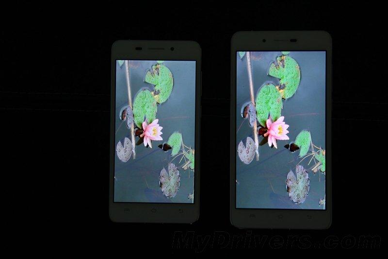 Exibição de comparação ao vivo X5 Max x Vivo X5