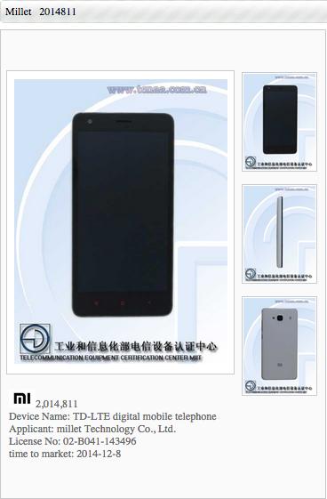 Xiaomi Redmi 2 TENAA