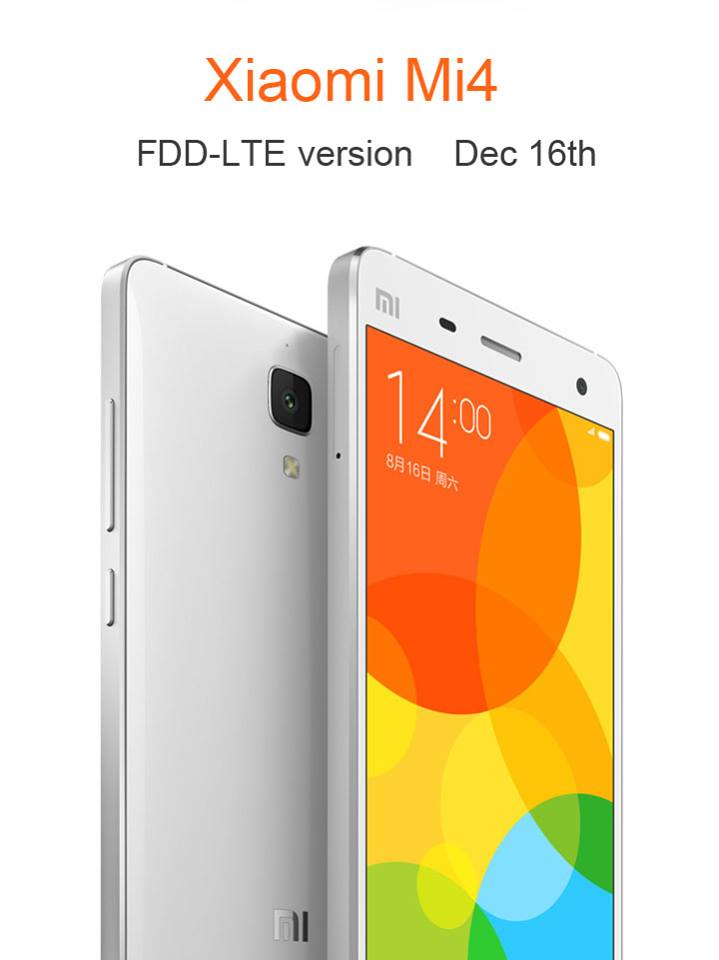 Xiaomi Mi4 FDD LTE 16 dicembre