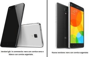 Xiaomi Mi4 confronto colori